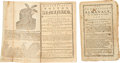 Books:Non-fiction, Two Early American Almanacs, including: Bickerstaff's BostonAlmanack, for the Year of our Redemption 1774. Boston: ...