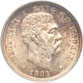 Coins of Hawaii, 1883 10C Hawaii Ten Cents MS65 PCGS....