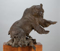 Sculpture, FROM THE COLLECTION OF SUSAN & ALLEN COLES. DENNIS P. ANDERSON (American, 1940-2005). Wet and Wild. Bronze. 28 inches ...