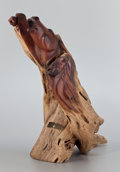 Sculpture, FROM THE COLLECTION OF SUSAN & ALLEN COLES. GEORGE BEACH (American, 20th Century). Horse Dances Stick, 1993. Wood. 24 ...