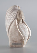 Fine Art - Sculpture, American:Contemporary (1950 to present), FROM THE COLLECTION OF SUSAN & ALLEN COLES. CLIFF FRAGUA (American, 20th Century). The Hawk's Message, 1982. Alabaster...
