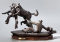 Fine Art - Sculpture, American:Contemporary (1950 to present), FROM THE COLLECTION OF SUSAN & ALLEN COLES. JOHN D. FREE(American, b.1929). Race of the Wild One, 1984. Bronze withp...