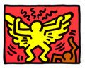 Prints:Contemporary, KEITH HARING (American, 1958-1990). Untitled, pl. 1 (from PopShop IV), 1989. Screenprint in colors. 11-1/2 x 14-3/4 inc...