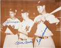 Baseball Collectibles:Photos, Ted Williams, Joe DiMaggio and Mickey Mantle Multi Signed OversizedPhotograph....