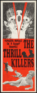 """Movie Posters:Horror, The Thrill Killers (Hollywood Star, 1965). Insert (14"""" X 36""""). Horror.. ..."""