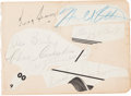 """Hockey Collectibles:Others, Early 1930's Toronto Maple Leafs """"Kid Line"""" Multi Signed Sheet...."""