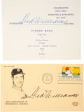 Baseball Collectibles:Others, Ted Williams Signed Memorabilia Lot of 2....