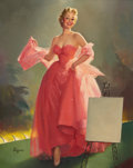 Pin-up and Glamour Art, GIL ELVGREN (American, 1914-1980). Miss Sylvania. Oil oncanvas. 33 x 26.5 in.. Signed lower left. ...