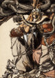 ARTHUR RACKHAM (British, 1867-1939) Loki and Sigyn, The Land of Enchantment book illustration, 1901 Watercolor and ink...