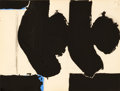 Works on Paper, ROBERT MOTHERWELL (American, 1915-1991). Elegy to the Spanish Republic No. 110C, 1968. Gouache and pencil on paper. 6 x ...