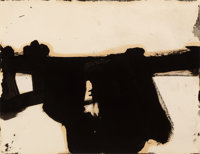 FRANZ KLINE (American, 1910-1962) Untitled, circa 1951 Oil on paper 8-3/8 x 10-3/4 inches (21.3 x