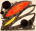 Post-War & Contemporary:Contemporary, ALEXANDER CALDER (American, 1898-1976). Untitled, 1962.Gouache on paper. 13-3/4 x 16 inches (34.9 x 40.6 cm). Signed an...
