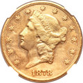 Liberty Double Eagles, 1878-CC $20 --Repaired, Cleaned--NGC Details. AU....