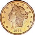 Liberty Double Eagles, 1892 $20 --Improperly Cleaned--NGC Details. AU....
