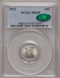 Barber Dimes: , 1912 10C MS65 PCGS. CAC. PCGS Population (129/48). NGC Census:(138/34). Mintage: 19,350,000. Numismedia Wsl. Price for pro...