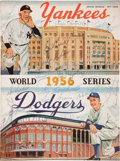 Autographs:Others, 1956 Brooklyn Dodgers Signed World Series Program....