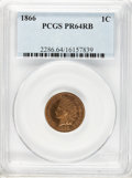 Proof Indian Cents: , 1866 1C PR64 Red and Brown PCGS. PCGS Population (76/51). NGC Census: (16/43). Mintage: 725. Numismedia Wsl. Price for prob...