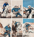 Non-Sport Cards:Sets, 1940's Exhibits Lone Ranger Complete Set (16)....