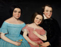 Fine Art - Painting, American:Antique  (Pre 1900), AMMI PHILLIPS (American, 1788-1865). Three Children of HenryJoslen Carter of Stockbridge: Anna Electa (1845-); JohnCalvi...