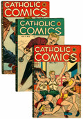 Golden Age (1938-1955):Religious, Catholic Comics V2#4, 5, and 7 Group (Catholic Publications,1947).... (Total: 3 Comic Books)