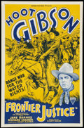 "Movie Posters:Western, Frontier Justice (Astor, R-1940s). One Sheet (27"" X 41""). Western.. ..."
