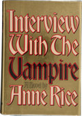 "Books:Signed Editions, Anne Rice. Interview With the Vampire. New York: Alfred A.Knopf, 1976.. First edition. Signed and dated ""Anne R..."