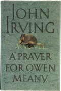 Books:First Editions, John Irving. A Prayer for Owen Meany. New York: WilliamMorrow and Company, Inc., [1989]. First trade edition, f...