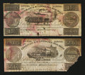 Canadian Currency: , Montreal, LC- Champlain & St. Lawrence Rail Road 2s.6d; 15dAug. 1, 1837. ... (Total: 2 notes)