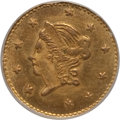 California Fractional Gold: , 1870 50C Liberty Round 50 Cents, BG-1010, R.3, MS65 NGC. NGCCensus: (2/0). PCGS Population (17/2). (#10839)...