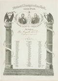 Political:Inaugural (1789-present), Lincoln & Johnson: 1865 Inaugural Ball Invitation....