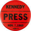 Political:Pinback Buttons (1896-present), John F. Kennedy: One-Day Issue Press Pin....