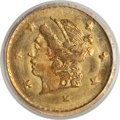 California Fractional Gold: , 1870 25C Liberty Round 25 Cents, BG-808, R.3, MS65 PCGS. PCGSPopulation (48/11). NGC Census: (8/7). (#10669)...