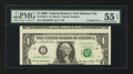 Error Notes:Miscellaneous Errors, Fr. 1933-J* $1 2006 Federal Reserve Star Note. PMG About Uncirculated 55 EPQ.. ...
