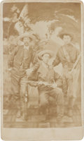 Photography:CDVs, Carte de Visite of Three Well-Armed Cowboys or Buffalo Hunters....