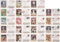 Baseball Collectibles:Others, Major League Baseball Notables Signed First Day Covers Lot of19....
