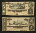 Confederate Notes:1864 Issues, $20 and $10 1864 Notes.. ... (Total: 2 notes)
