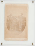 Photography:Cabinet Photos, Rare 19th-Century Cabinet Photo of a Lynching. ...
