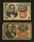 Fractional Currency:Fifth Issue, Two Fifth Issue Fractional Notes.. ... (Total: 2 notes)