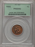 Proof Indian Cents, 1905 1C PR65 Red PCGS....