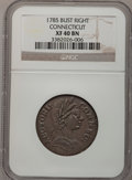 Colonials, 1785 COPPER Connecticut Copper, Bust Right XF40 NGC. M. 3.2-L,W-2330, High R.4....