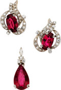Estate Jewelry:Suites, Tourmaline, Diamond, Gold Jewelry Suite. ...