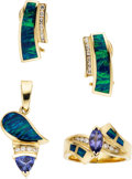 Estate Jewelry:Suites, Tanzanite, Diamond, Opal, Gold Jewelry Suite. ... (Total: 3 Items)