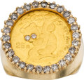 Estate Jewelry:Rings, Gentleman's Diamond, Gold Coin, Gold Ring. ...