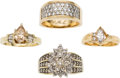 Estate Jewelry:Rings, Diamond, Gold Ring Rings. ... (Total: 4 Items)