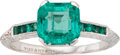 Estate Jewelry:Rings, Art Deco Emerald, Platinum Ring, Tiffany & Co.. ...