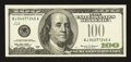 Error Notes:Partial Third Printing, Fr. 2176-J $100 1999 Federal Reserve Note. About Uncirculated.. ...