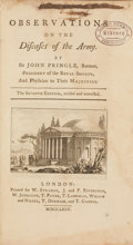 Books:Non-fiction, John Pringle. Observations on the Diseases of the Army.London: W. Strahan, J. and F. Rivington, et al., 1775. S...