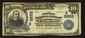 National Bank Notes:Virginia, Farmville, VA - $10 1902 Date Back Fr. 618 The Peoples NB Ch. #(S)9222. ...