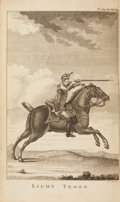 Books:First Editions, Captain Hinde. The Discipline of the Light-Horse. London: W.Owen, 1778. First edition. Octavo. Polished calf an...