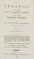 Books:First Editions, Thomas Reide. A Treatise on the Duty of Infantry Officers, andthe Present System of British Military Discipline. In Two...